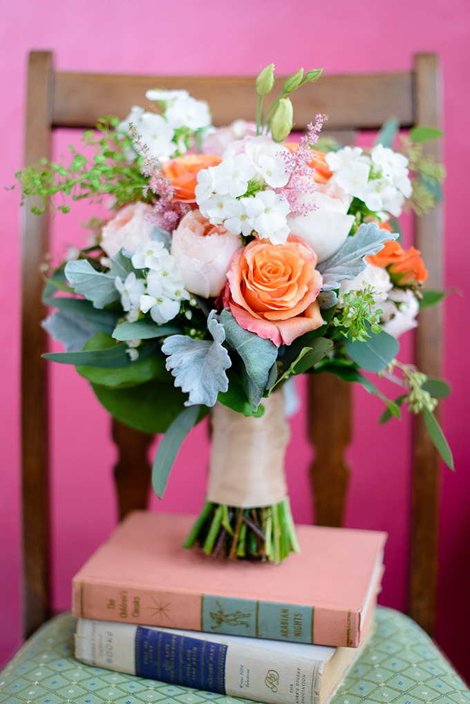 orange bouquet by S & A Weddings and Events | The Veil Wedding Photography | Glamour & Grace
