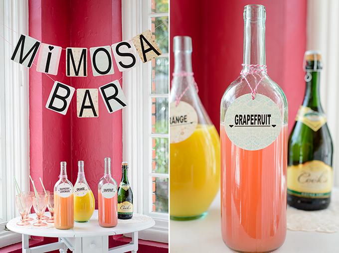 mimosa bar | The Veil Wedding Photography | Glamour & Grace