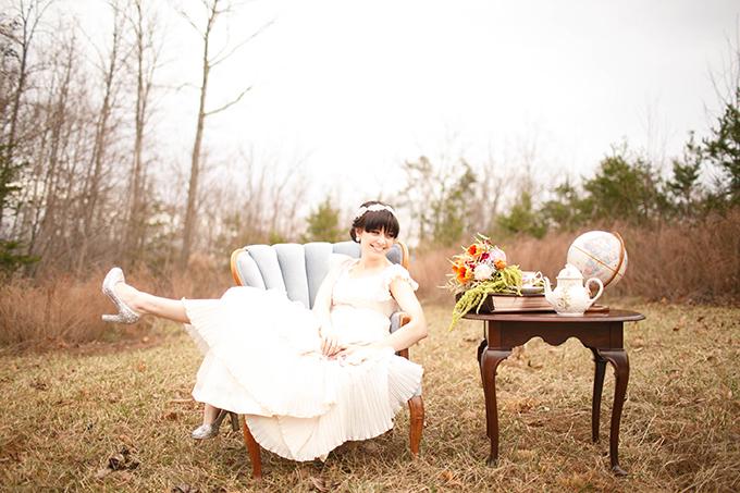 vintage bridal session   V.A. Photography   Glamour & Grace