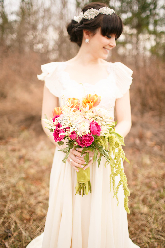 pink and orange bouquet | V.A. Photography | Glamour & Grace