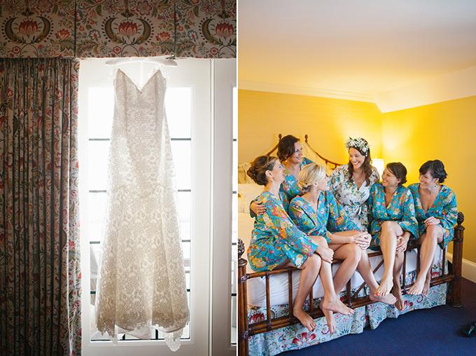 orange and blue beach wedding | Kristin Moore Photo | Glamour & Grace