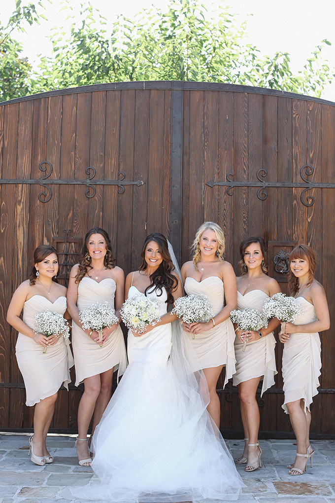 neutral bridesmaids | Allie Lindsey Photography | Glamour & Grace