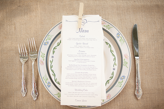 rustic place setting | Stephanie A Smith Photography | Glamour & Grace