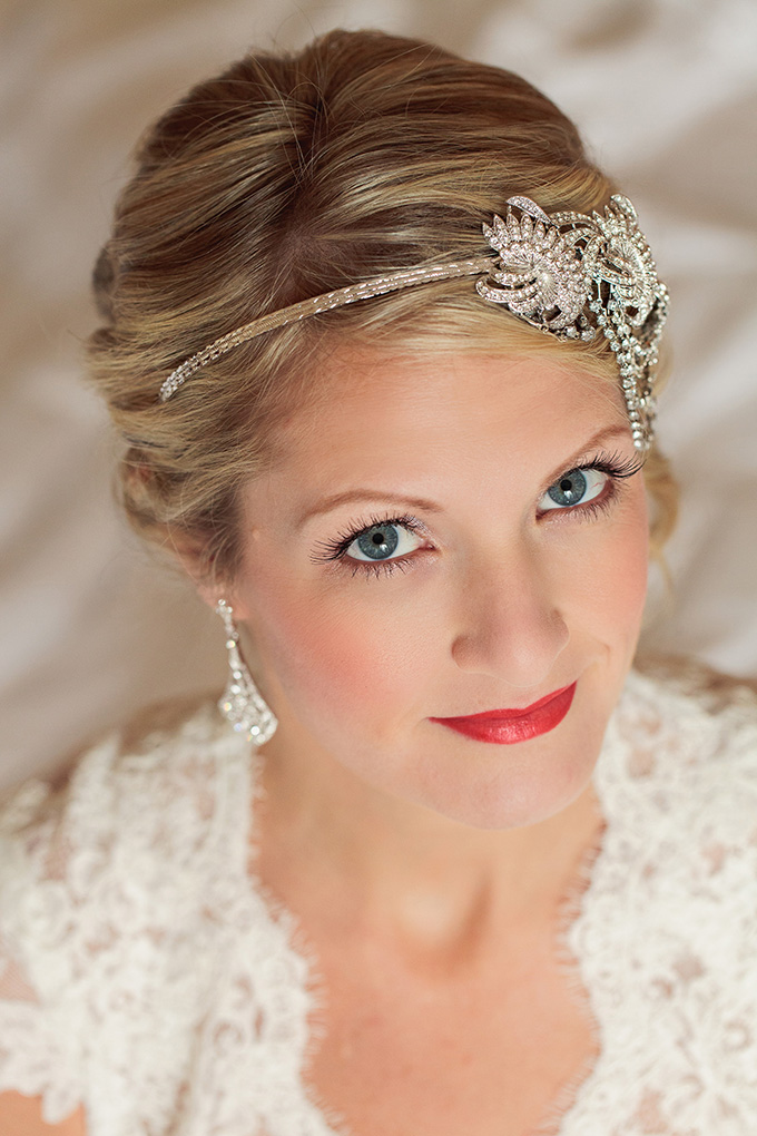 rhinestone headpiece   Kimberly Salem Photography   Glamour & Grace