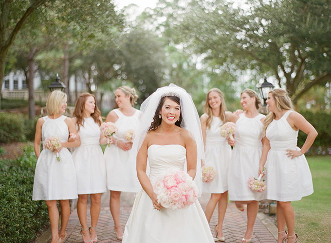 bride with white bridesmaids | Pure 7 Studios | Glamour & Grace