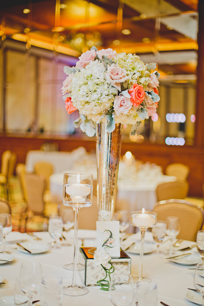 romantic centerpieces by Flower Studio | Elyse Hall Photography | Glamour & Grace