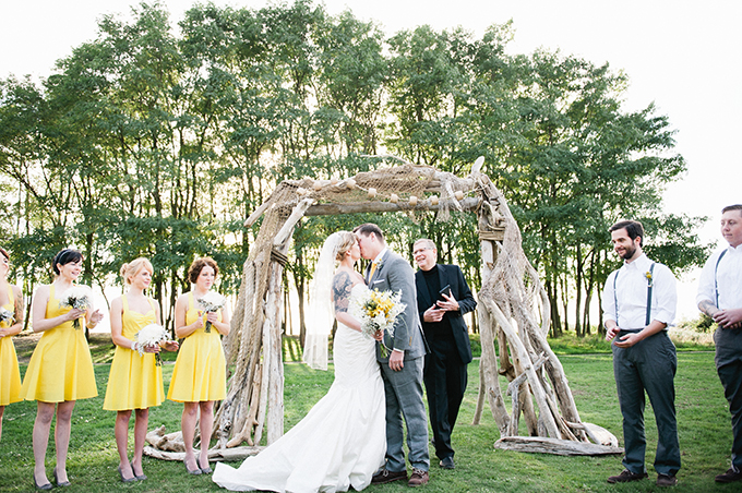 rustic yellow wedding | Meredith McKee Photography | Glamour & Grace