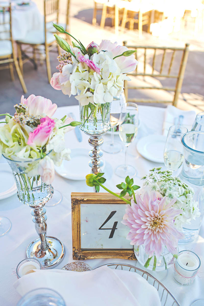 pink centerpieces | Lindsey Gomes Photography | Glamour & Grace