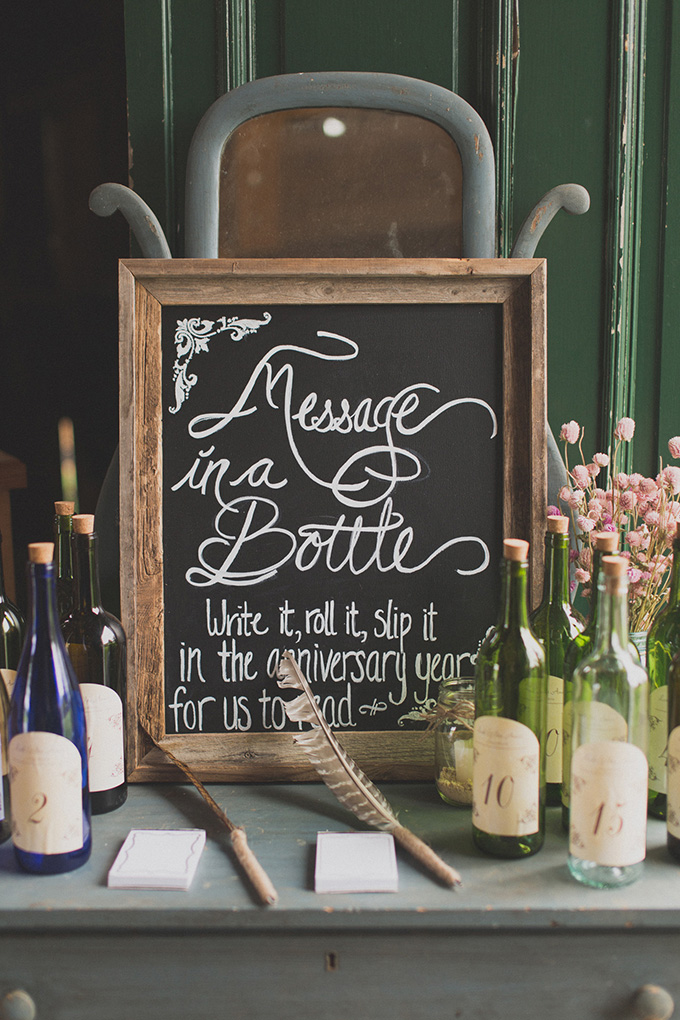 message in a bottle | Jennifer Ling Photography | Glamour & Grace