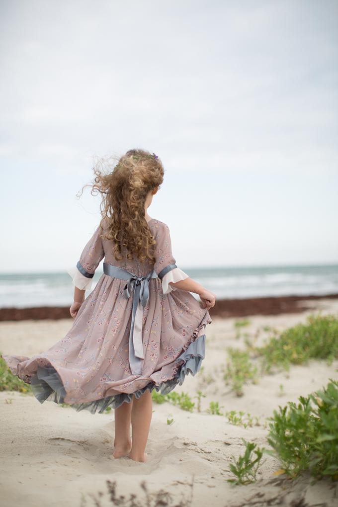 whimsical beach flower girl | Archetype Studio, Inc. | Glamour & Grace