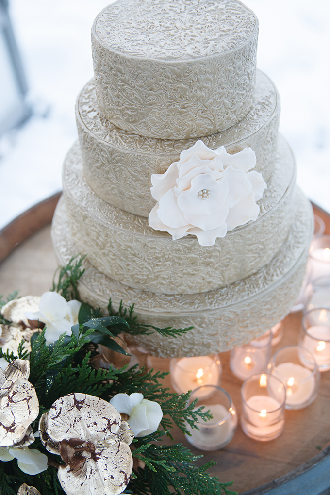 glam winter cake | Crown Photography | Glamour & Grace