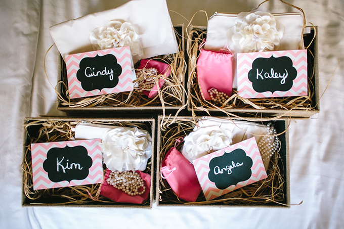 bridesmaids gifts | Tamara Lockwood Photography | Glamour & Grace
