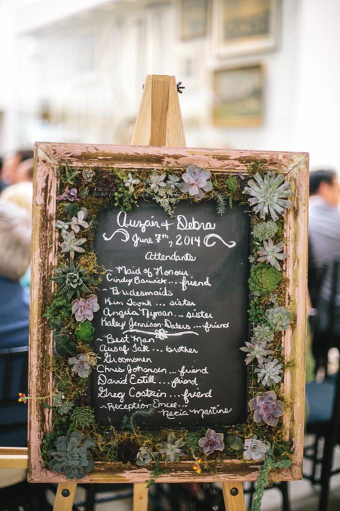 succulent signage | Tamara Lockwood Photography | Glamour & Grace