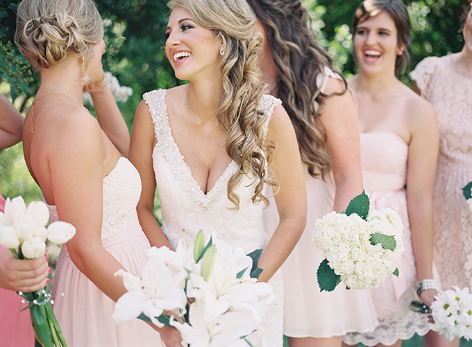 blush bridesmaids | Tracy Enoch Photography | Glamour & Grace
