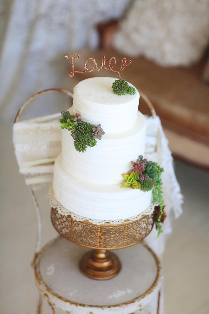 succulent cake | Melissa Enid Photography | Glamour & Grace