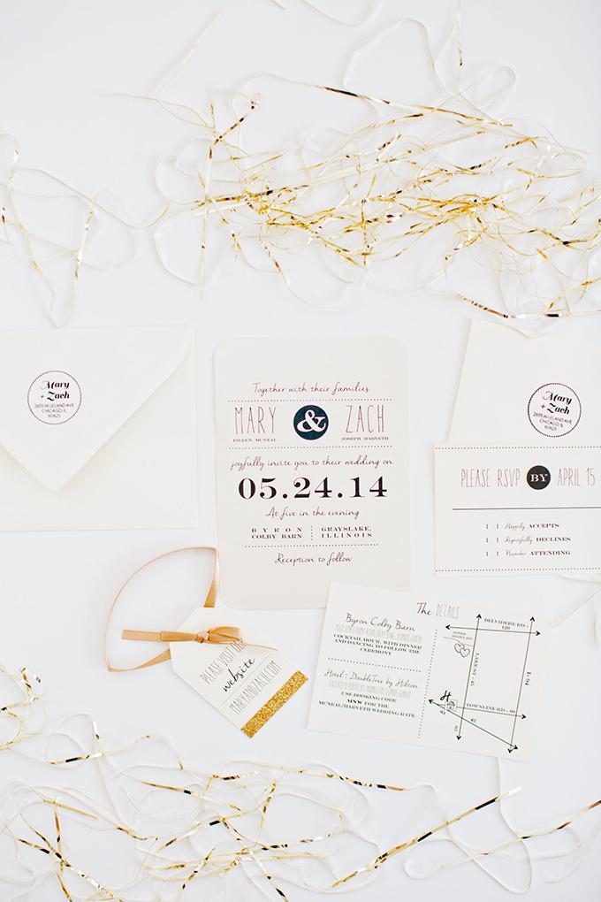 black and white invitations | Cassandra Photo | Glamour & Grace