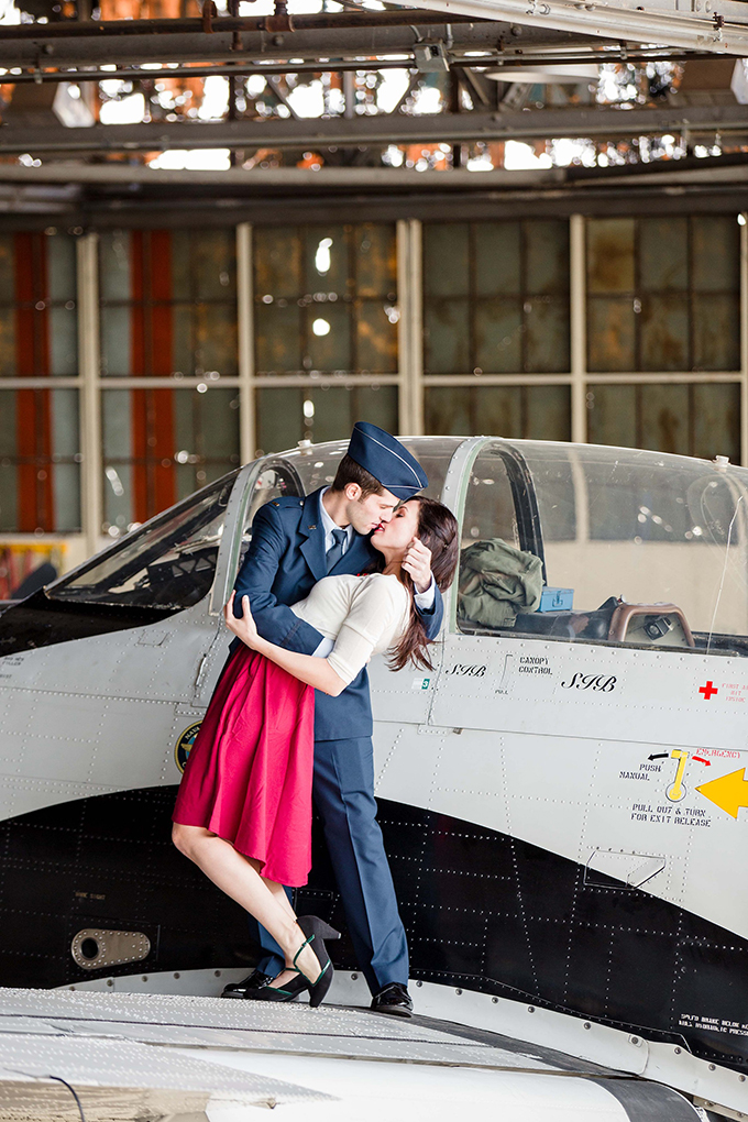 vintage airplane engagement session   Leah Barry Photography   Glamour & Grace