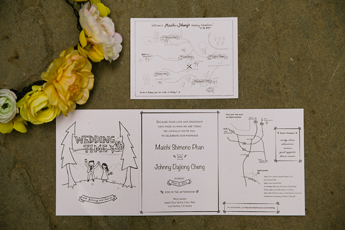 cute handmade invitations   Jasmine Lee Photography   Glamour & Grace