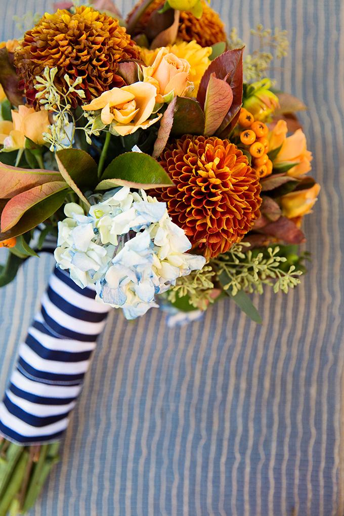 fall nautical bouquet | Tara H. Photography | Glamour & Grace