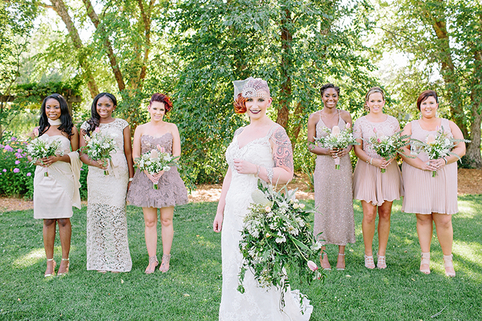 neutral bridesmaids | Jennifer Miller Photography | Glamour & Grace