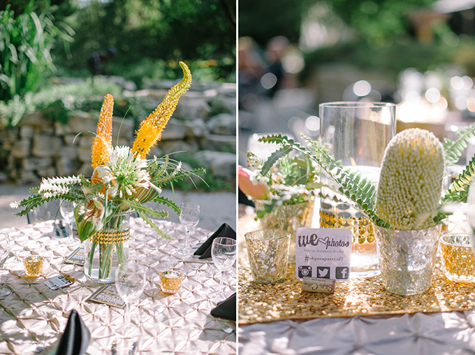 unique gold centerpieces | Jennifer Miller Photography | Glamour & Grace