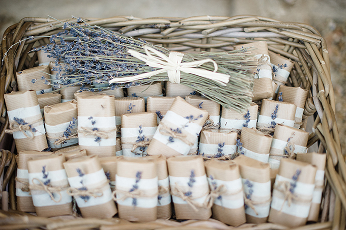 handmade lavender soap favors | Meredith Lord | Glamour & Grace