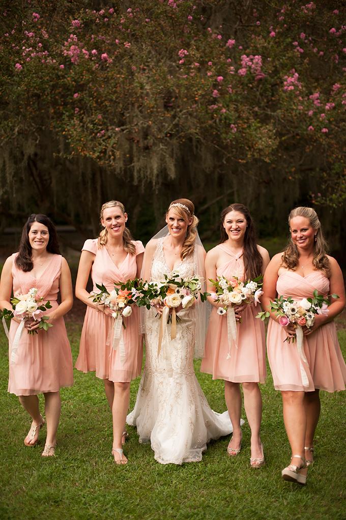 blush bridesmaids | Stephanie A Smith Photography | Glamour & Grace