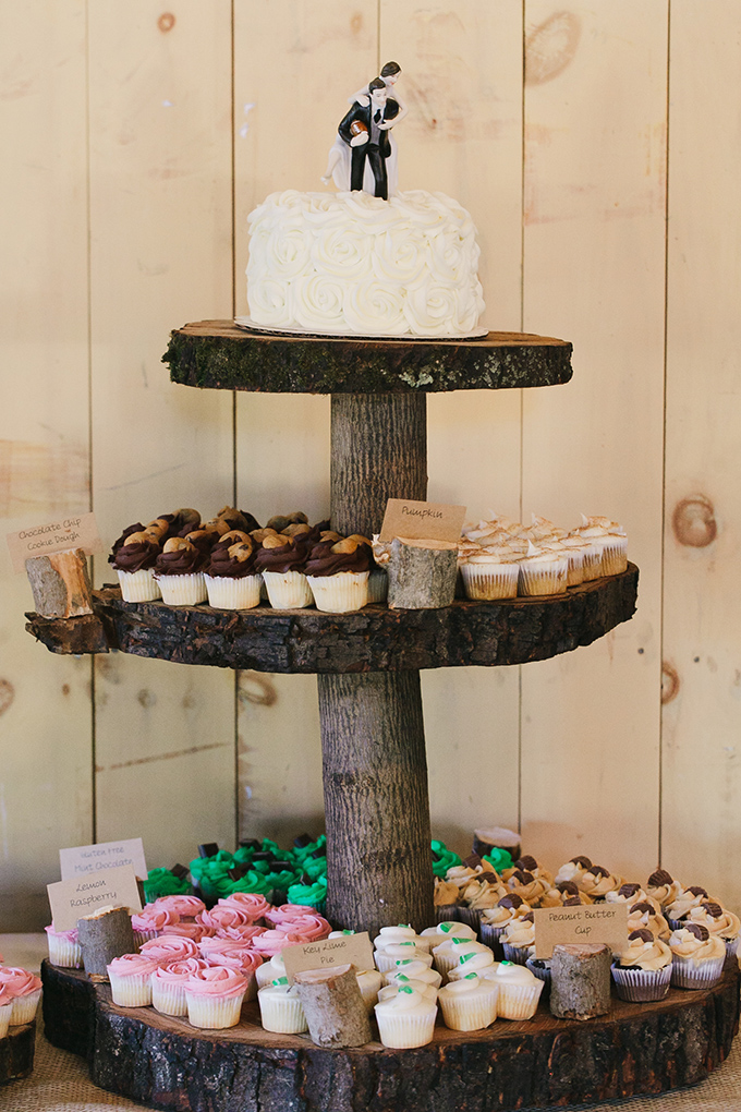 rustic cupcake tower   Jessica Connery Photography   Glamour & Grace