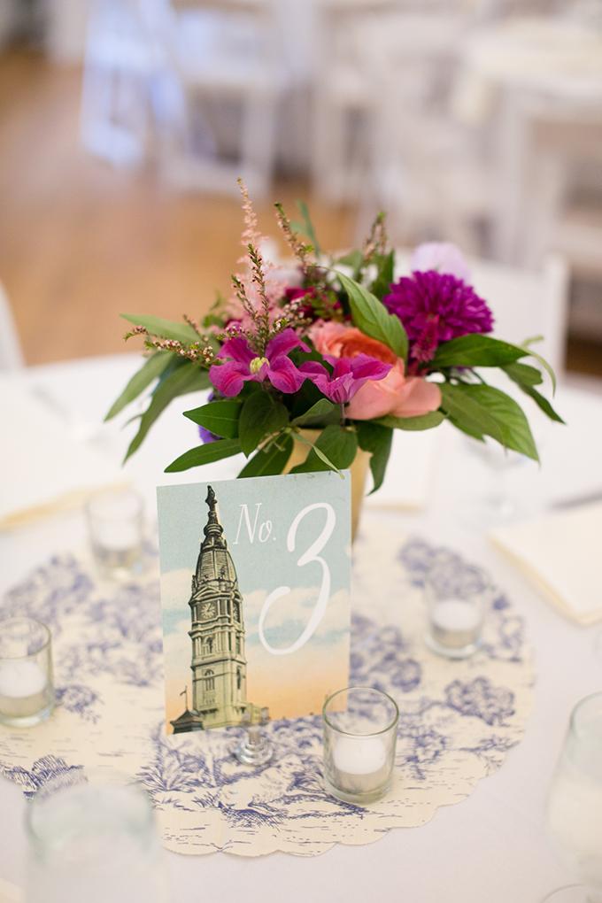 Philadelphia garden wedding centerpieces   Peach Plum Pear Photo   Glamour & Grace