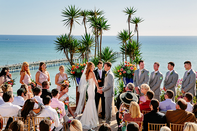 colorful beach wedding | Caroline + Ben Photography | Glamour & Grace