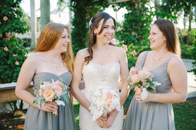 gray bridesmaids | Shea Christine Photography | Glamour & Grace