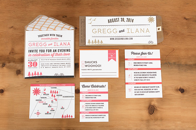 modern red invitations | Tammy Swales | Glamour & Grace