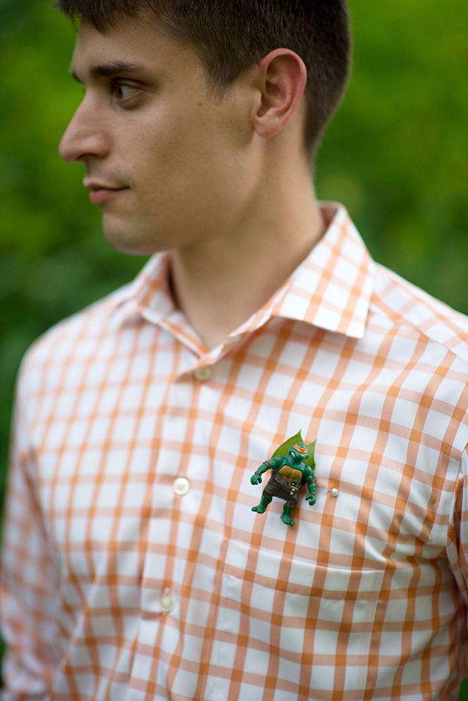 Teenage Mutant Ninja Turtle boutonniere | Tammy Swales | Glamour & Grace