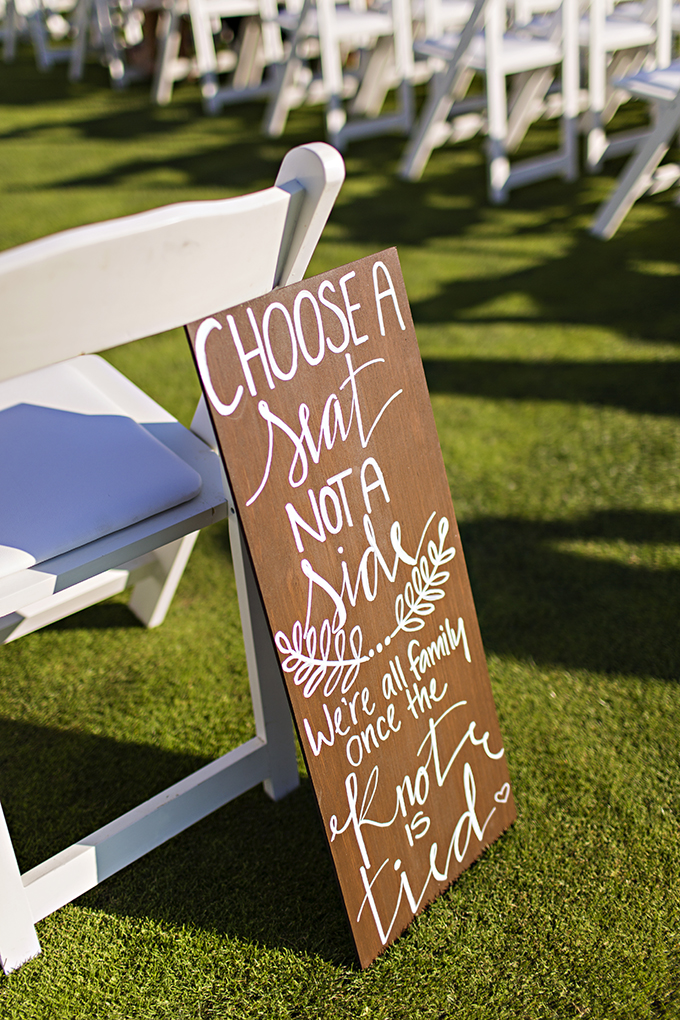 choose a seat not a side | Courtney Bowlden Photography | Glamour & Grace