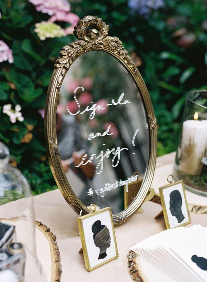 mirror guest book | Jose Villa