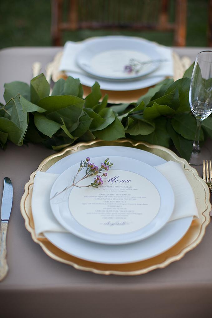 romantic menu place setting | Roohi Photography | Glamour & Grace