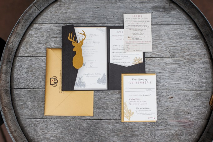 rustic mountain invitation | Barrie Anne Photography | Glamour & Grace