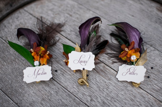 purple and orange bouts | Barrie Anne Photography | Glamour & Grace