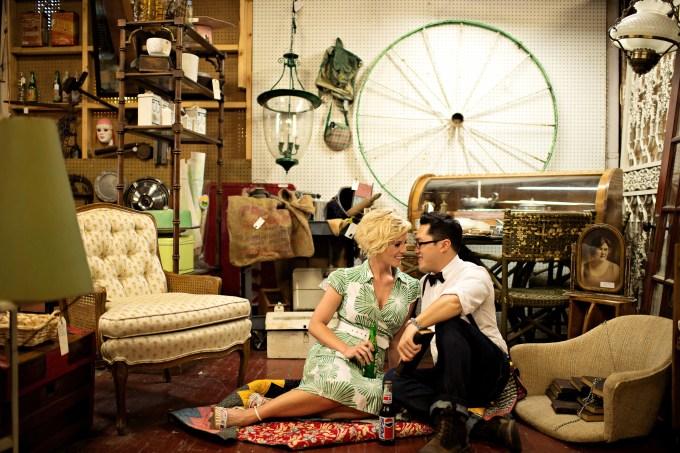 vintage Nashville engagement | Kristen Weaver Photography | Glamour & Grace