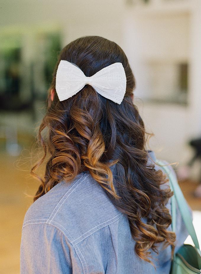bow hair | Blueberry Creative | Glamour & Grace