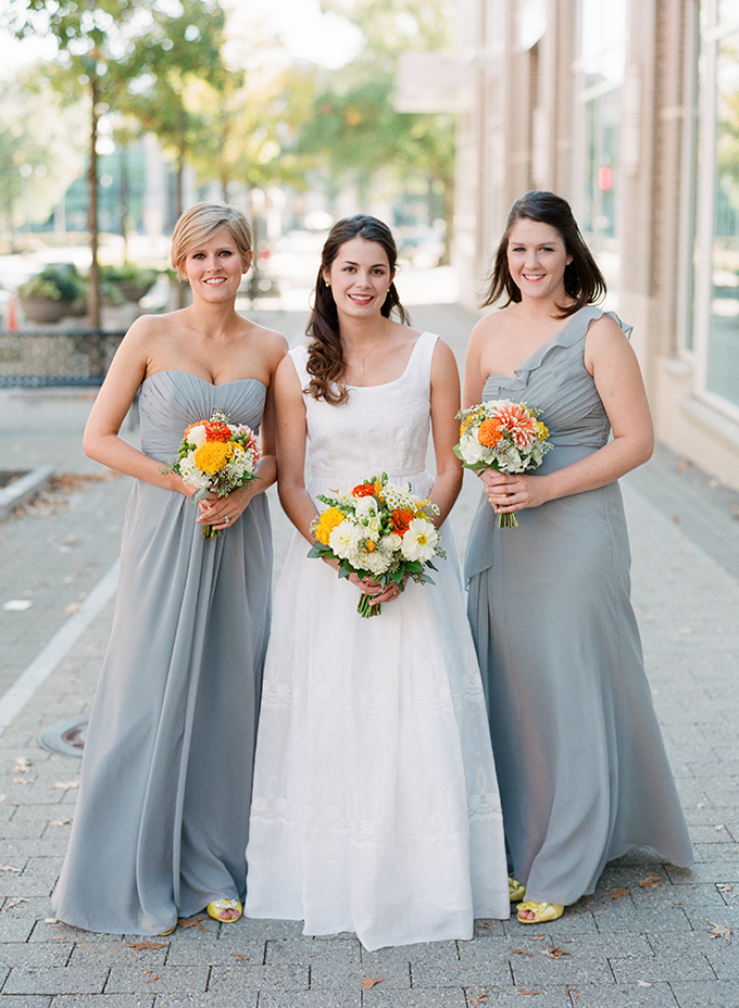 gray bridesmaids | Blueberry Creative | Glamour & Grace