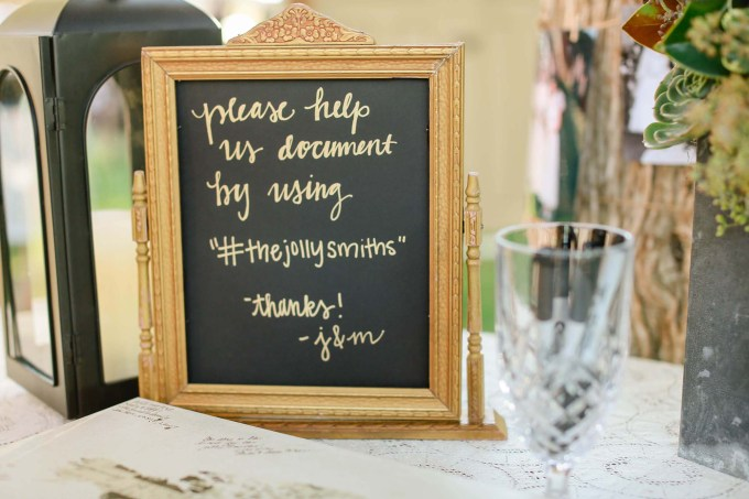 wedding hashtag | Allee J. | Glamour & Grace