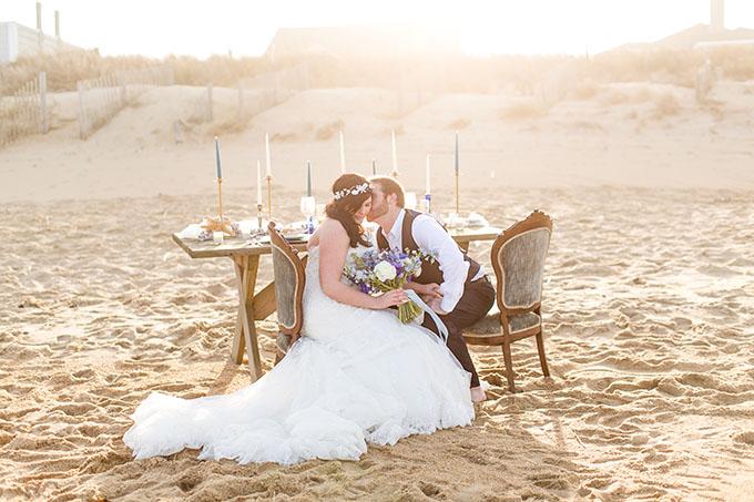 romantic seaside wedding inspiration | Amanda Hedgepeth Photography | Glamour & Grace