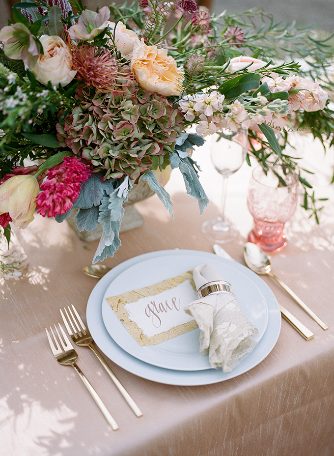 romantic place setting | Archetype | Glamour & Grace