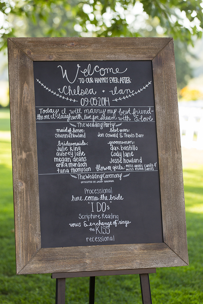 welcome chalkboard sign | Courtney Bowlden Photography | Glamour & Grace