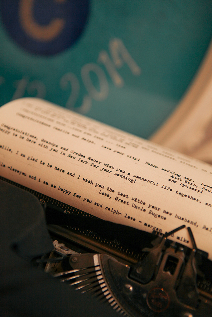 type writer guest book | Samantha Lauren Photographie | Glamour & Grace