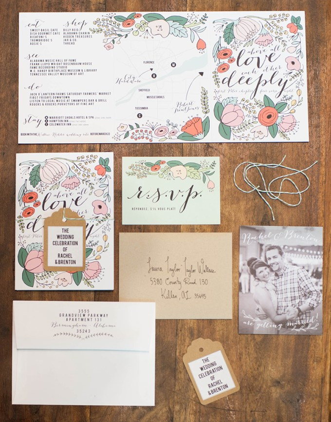floral invite | Stacy Richardson Photography | Glamour & Grace