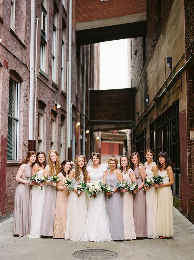 neutral bridesmaids | JoPhoto | Glamour & Grace
