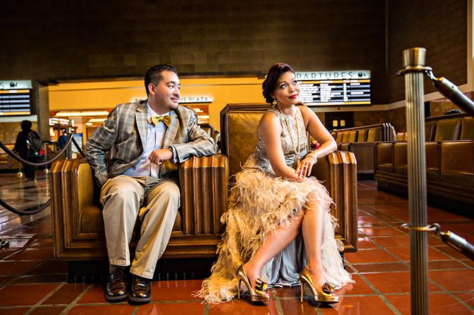 vintage glam engagement   D. Park Photography   Glamour & Grace