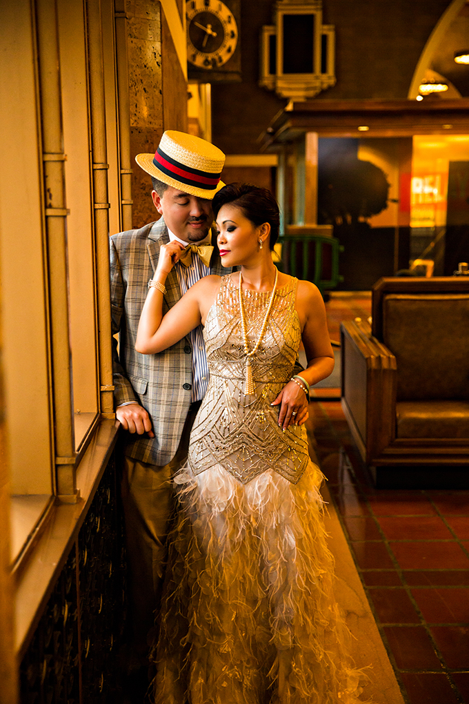 vintage glam engagement | D. Park Photography | Glamour & Grace